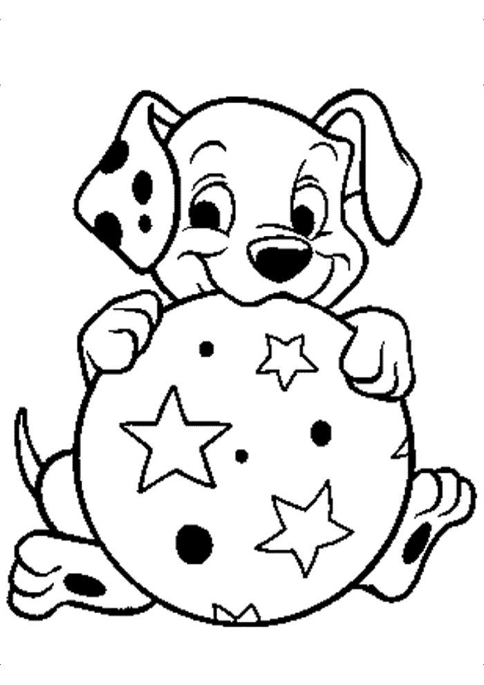 illustration: 101 dalmatiers spelen met de bal - 101 dalmatiers