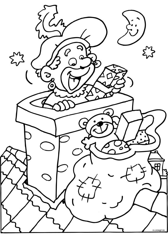 Zwarte Piet in de schoorsteen