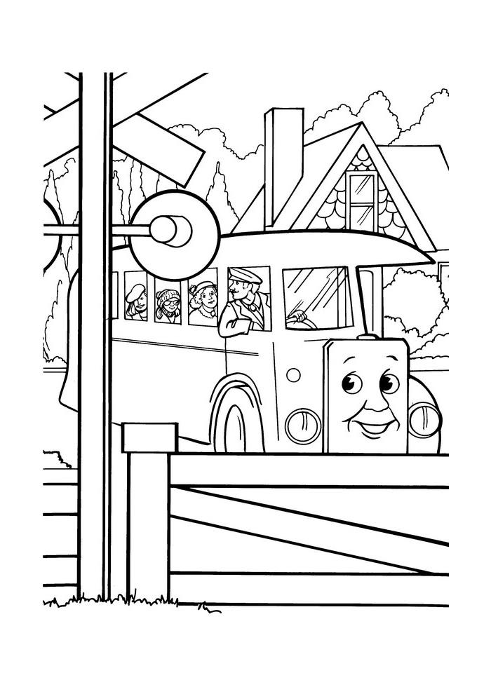 Thomas De Trein In De Bus Thomas De Stoomlocomotief