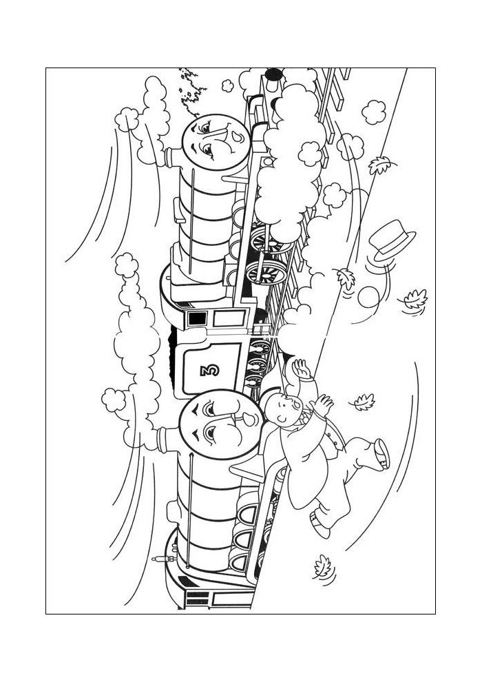 thomas de trein in de strom