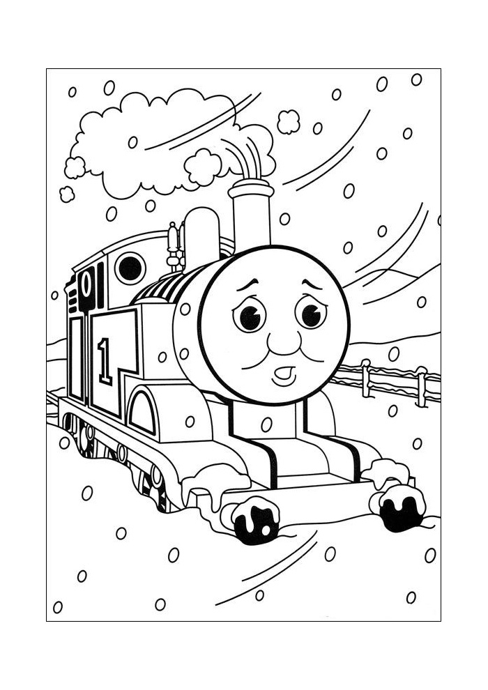 thomas de trein thomas in de sneeuw2