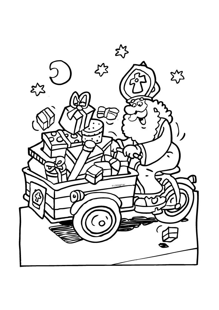 Sinterklaas met de bakfiets