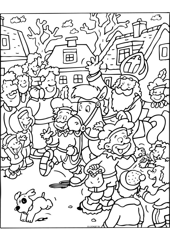 Sinterklaas Kleurplaten Bovenbouw Sinterklaas In Het Winkelcentrum Sinterklaas Kleurplaten