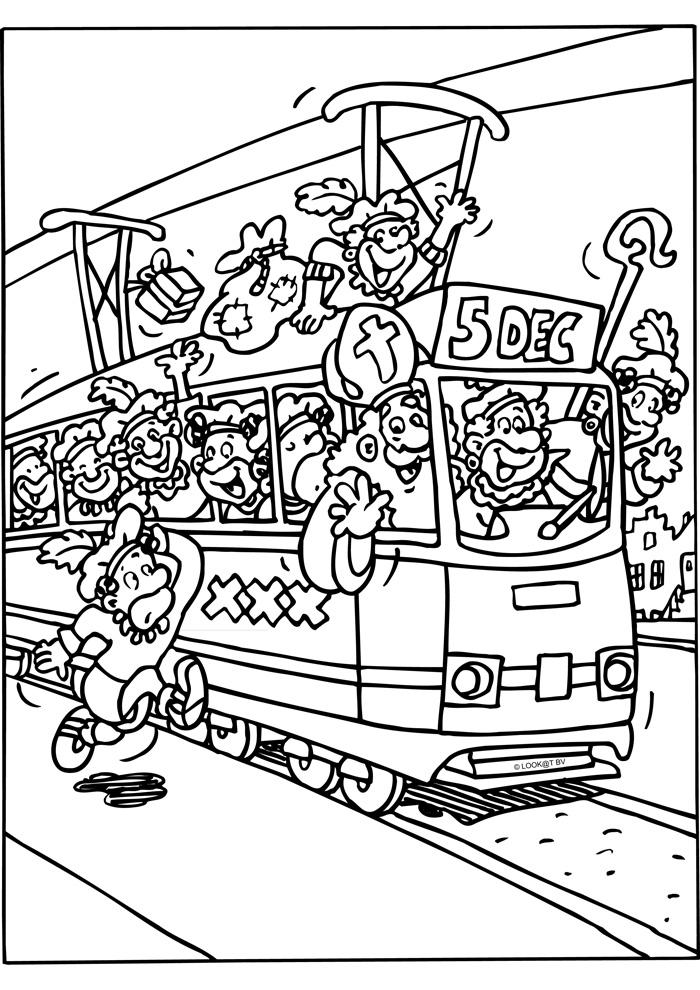 Sinterklaas met de tram