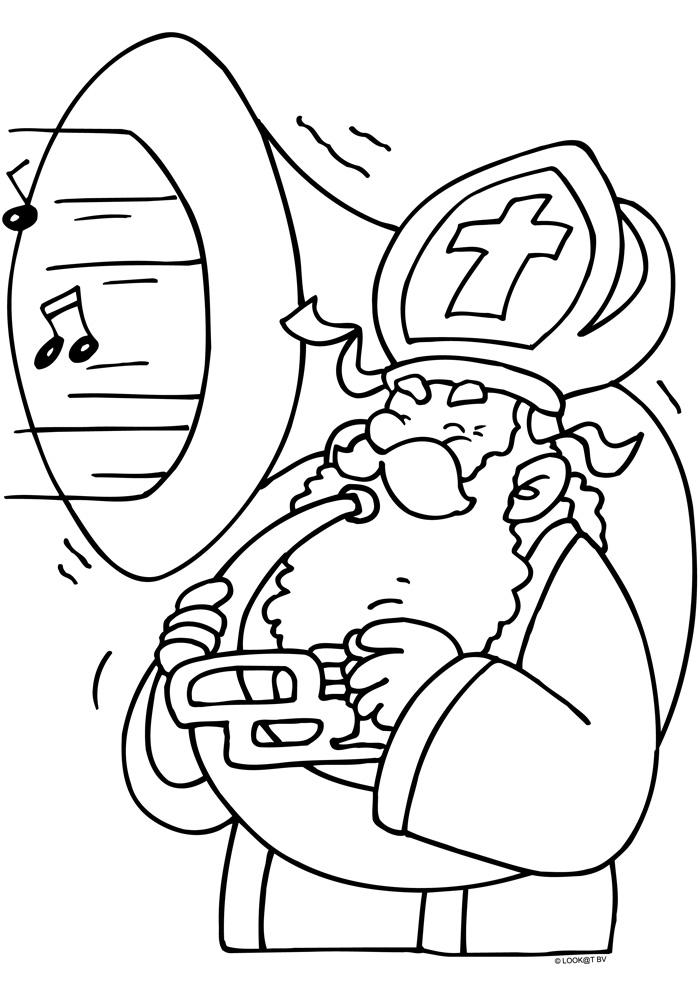 Disney Kleurplaten Sinterklaas.Sinterklaas Maakt Muziek Sinterklaas Kleurplaten Kleurplaat Com