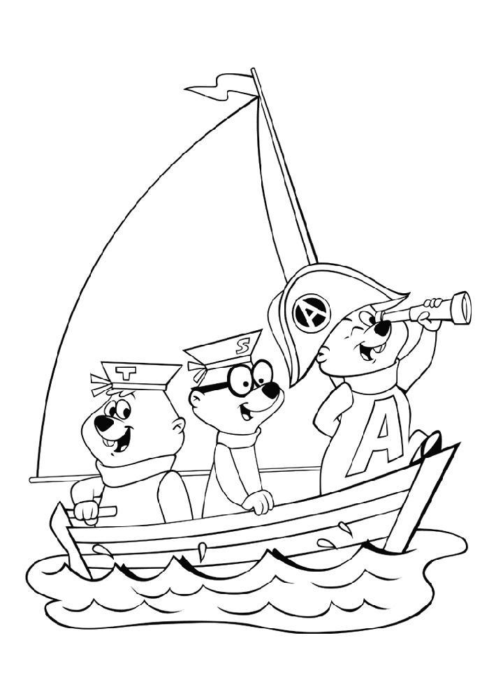 Alvin and the Chipmunks in de boot