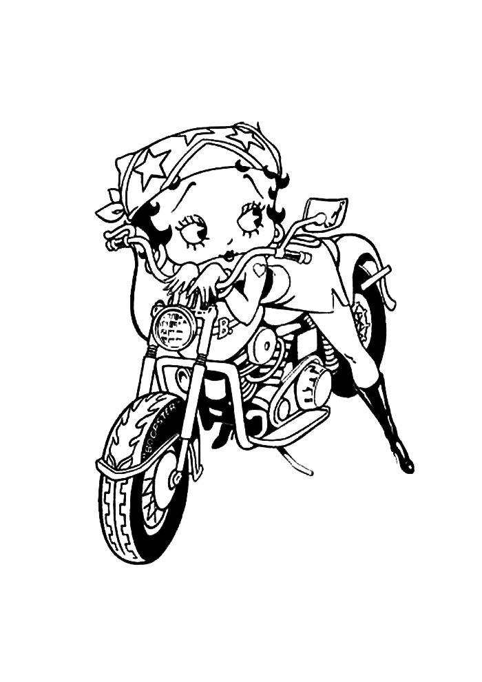 Betty Boop op de motor