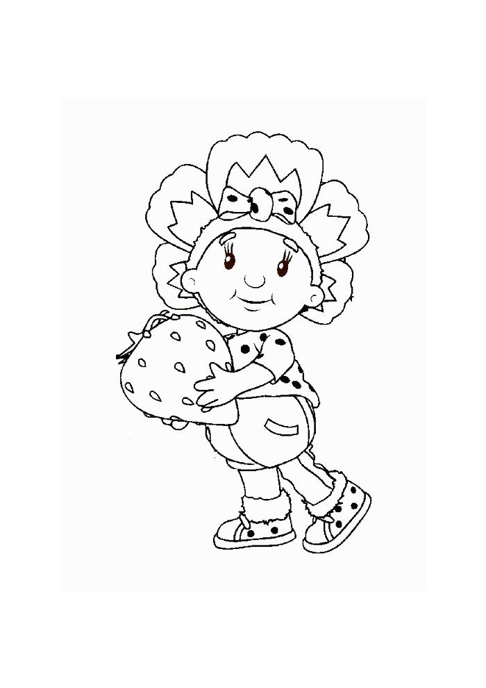 Fifi met aardbei