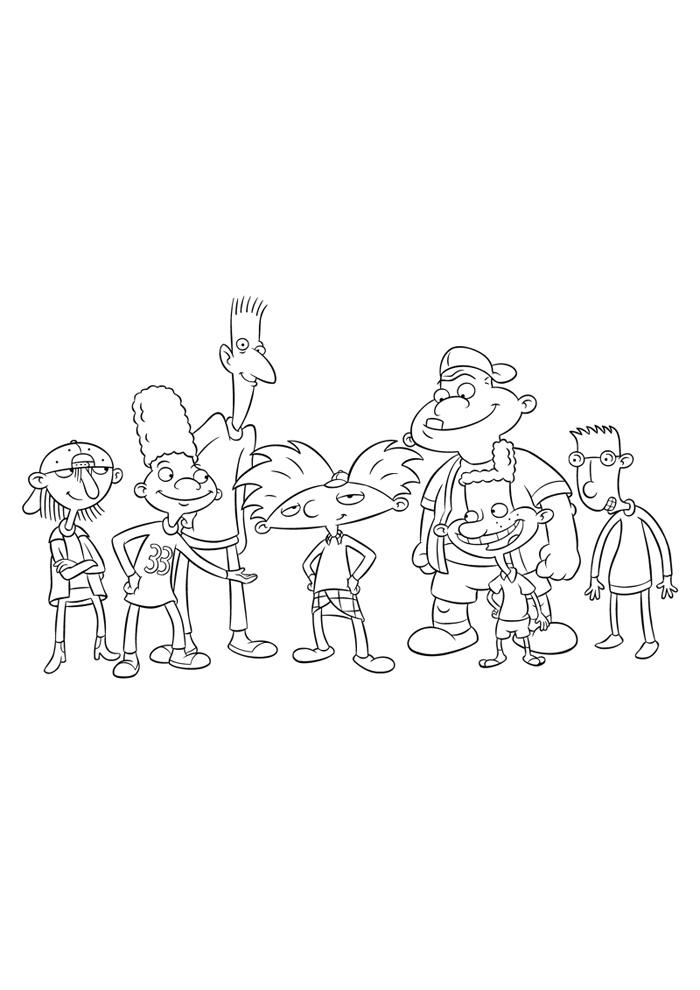 Hey Arnold met zijn vriendjes