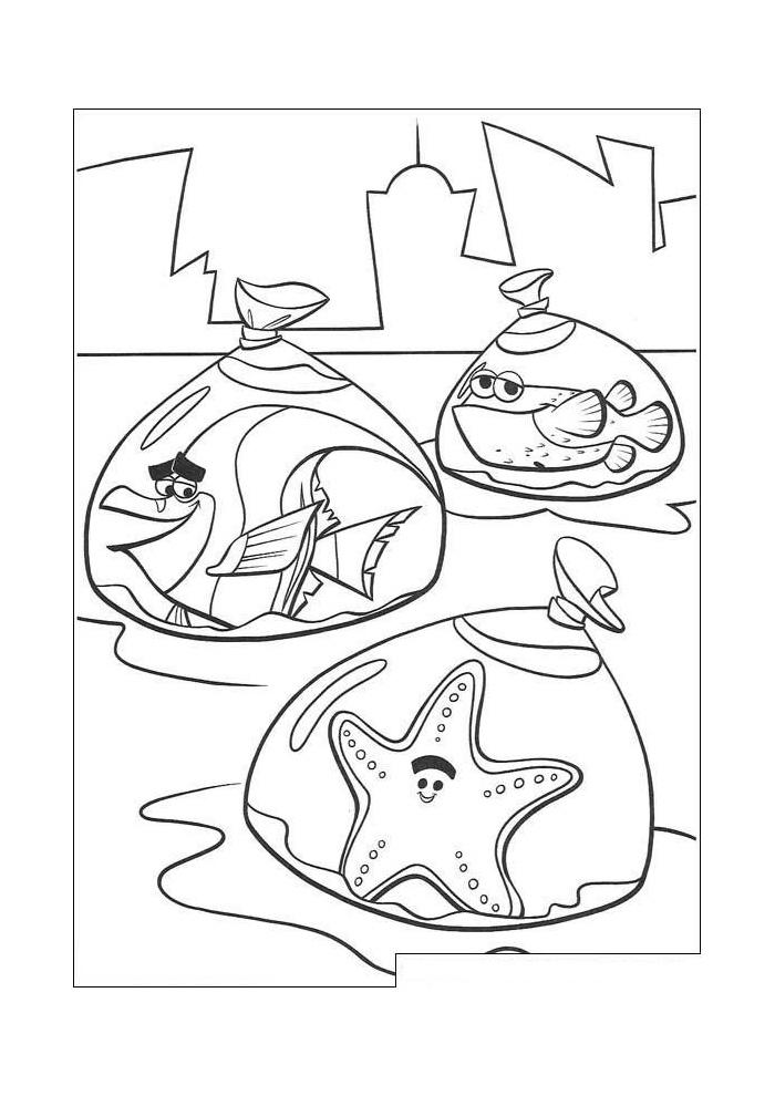 Nemo Alle Vissen In Een Zakje Nemo Kleurplaten Kleurplaat Com