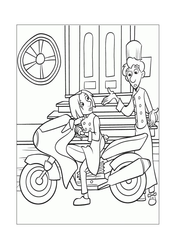 Ratatouille meisje op de motor