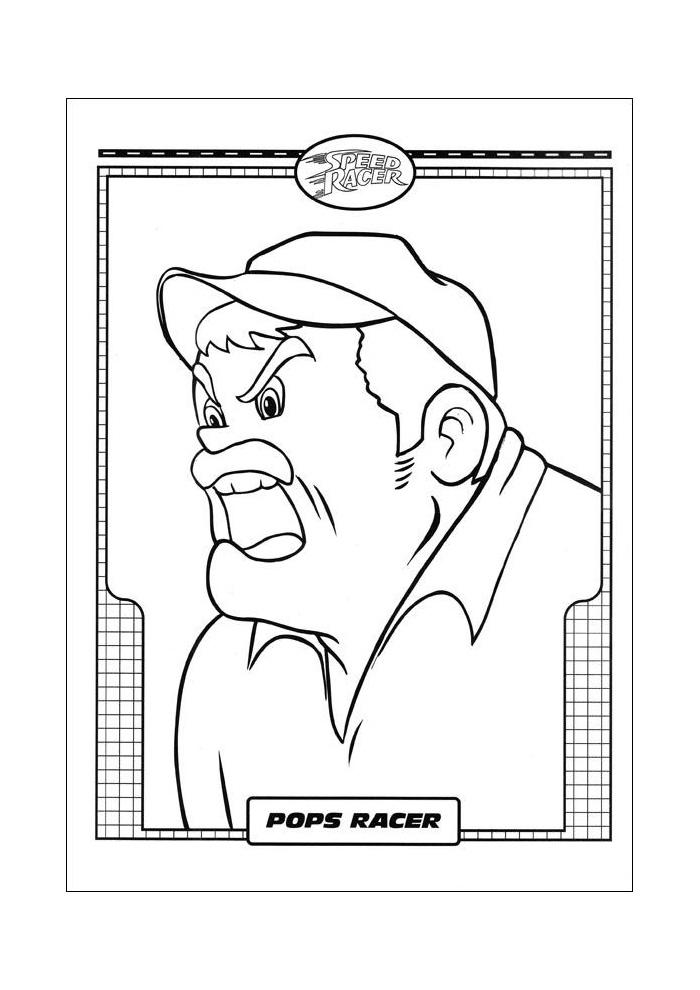 Racer Speed Racer pops racer