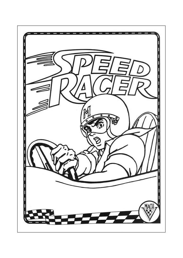 racer speed racer racen speed racer kleurplaten