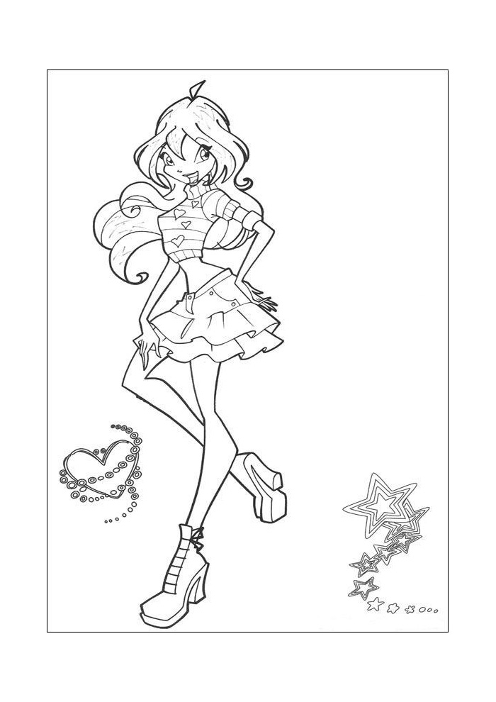 Winx - tussen een hartje en een ster