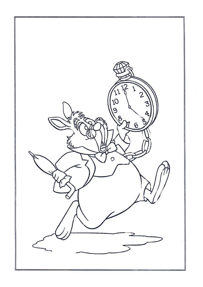 Alice in wonderland - konijn met klok