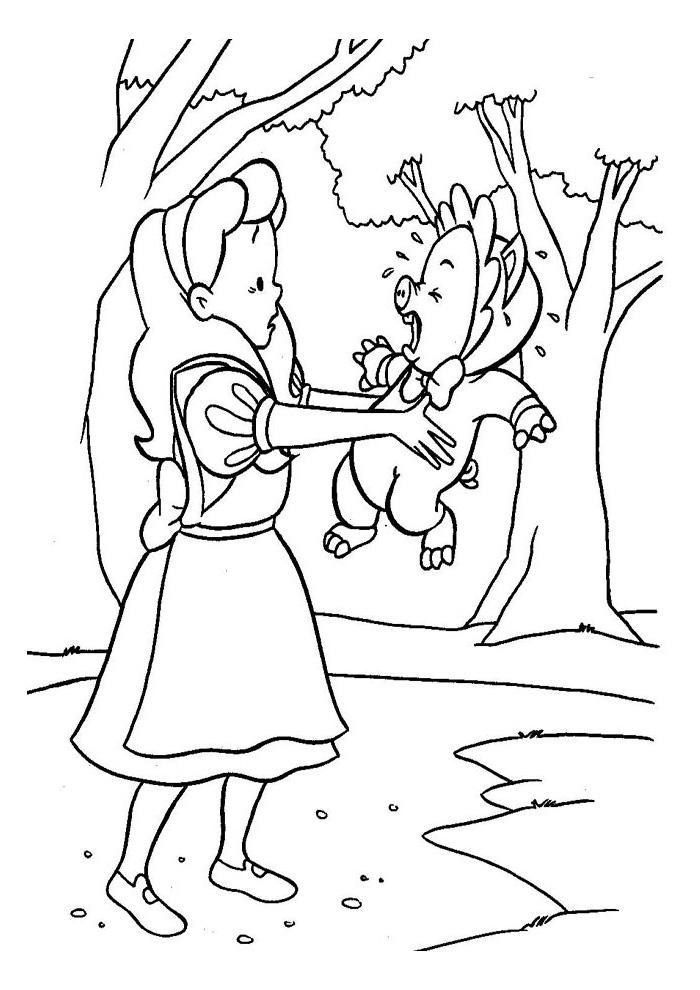 Alice in wonderland - met varkentje