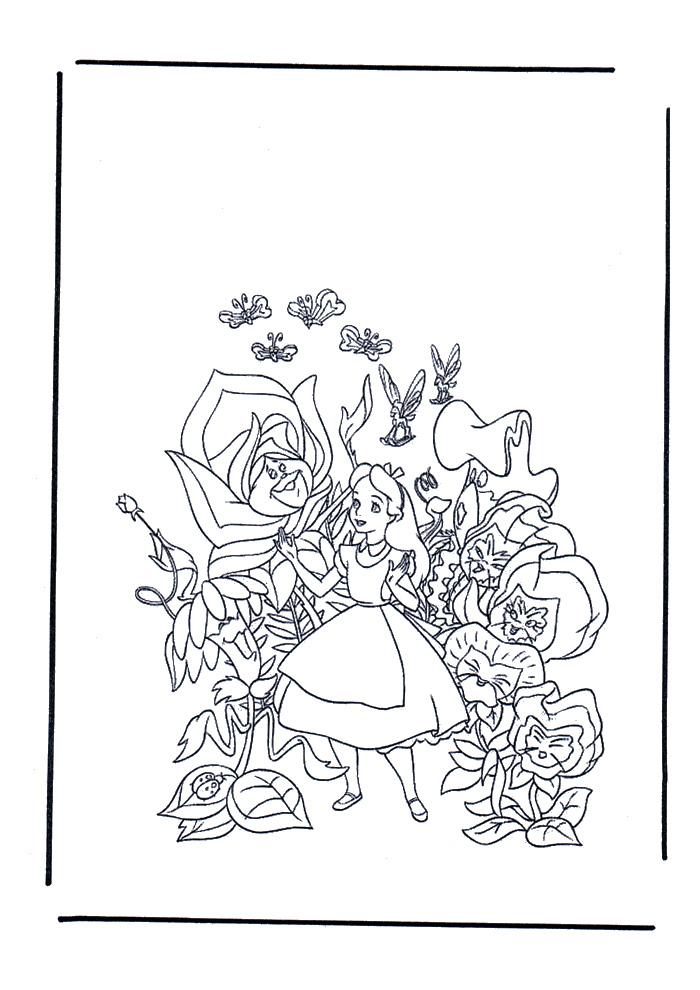 Alice in wonderland - tussen de bloemen