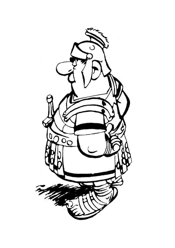 asterix en obelix romeinse officier
