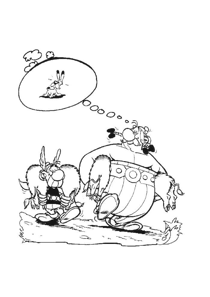 asterix en obelix zwijnen vangen