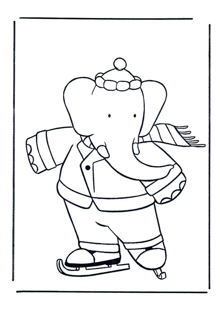 Babar - schaatsen