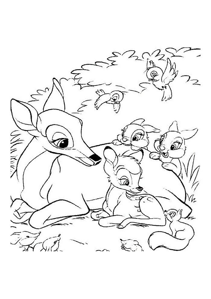 Bambi -eekhoorntje aan het vertellen