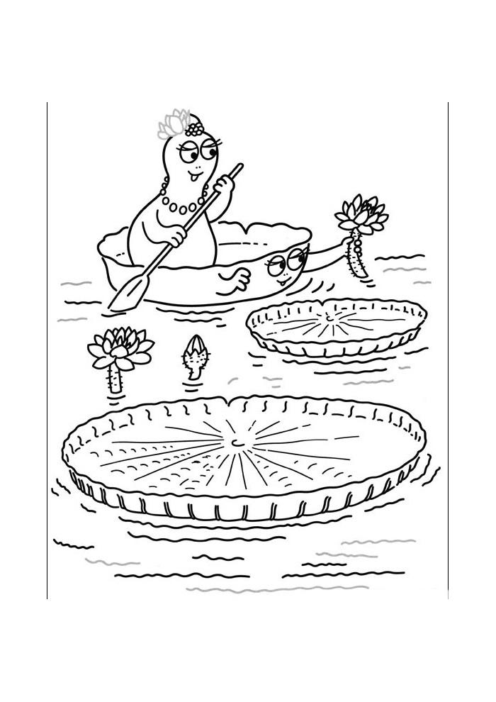 Barbapapa - in het bootje