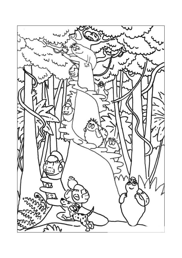 Barbapapa In Het Bos Barbapapa Kleurplaten Kleurplaat Com