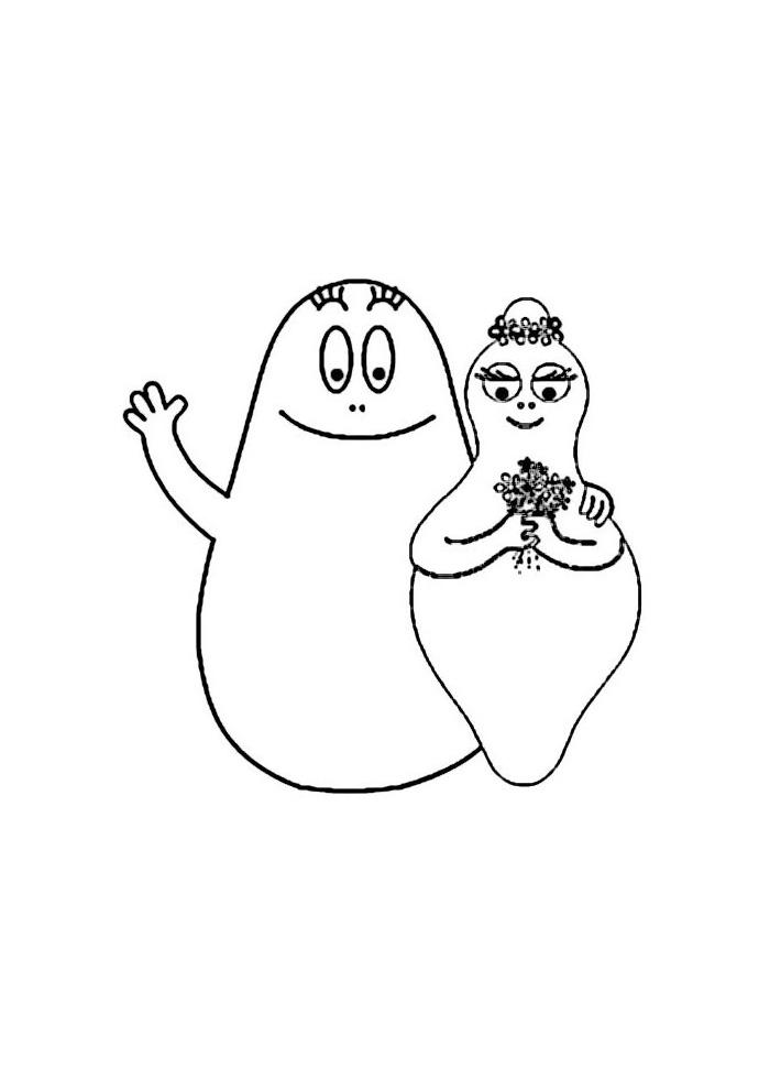 Barbapapa - mama en papa