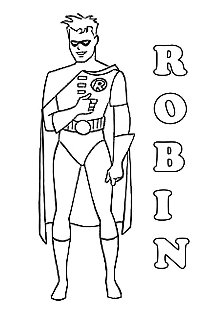 kleurplaten batman en robin