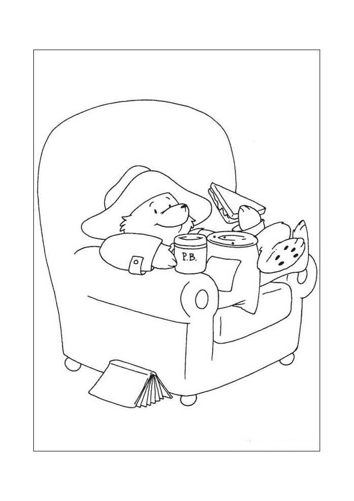 beertje paddington eten voor de tv