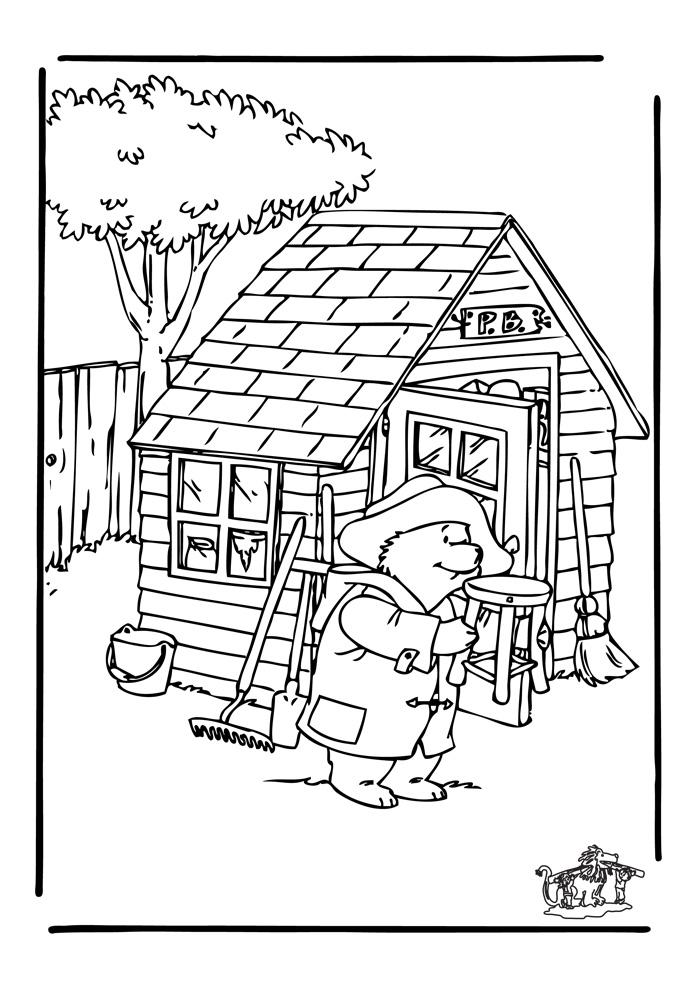 beertje paddington voor het huis