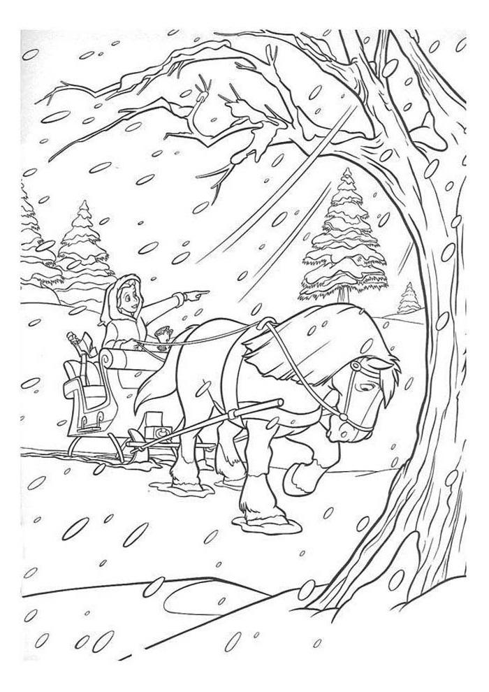en het beest in de sneeuw en het beest