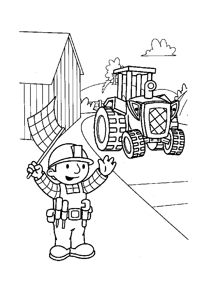 Bob de Bouwer - bob en de traktor