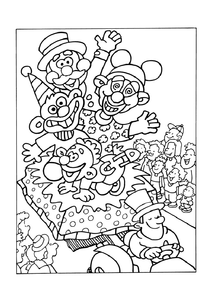 Kleurplaat Zomer Groep 6 Carnaval Optocht Carnaval Kleurplaten Kleurplaat Com