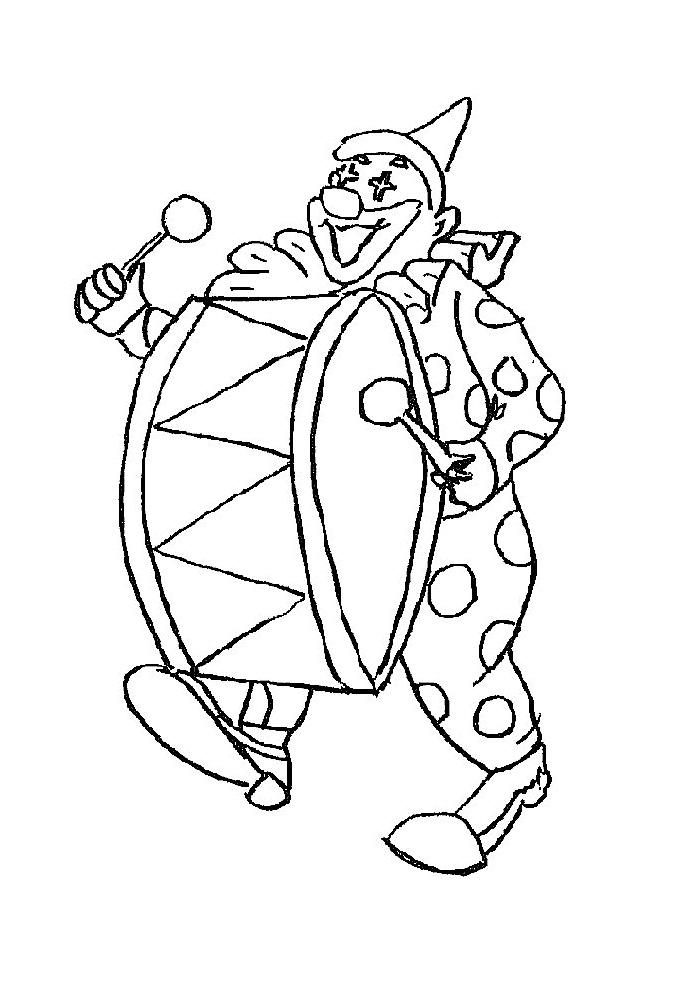 Clown - trommel