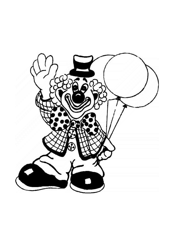 Clown - zwaait