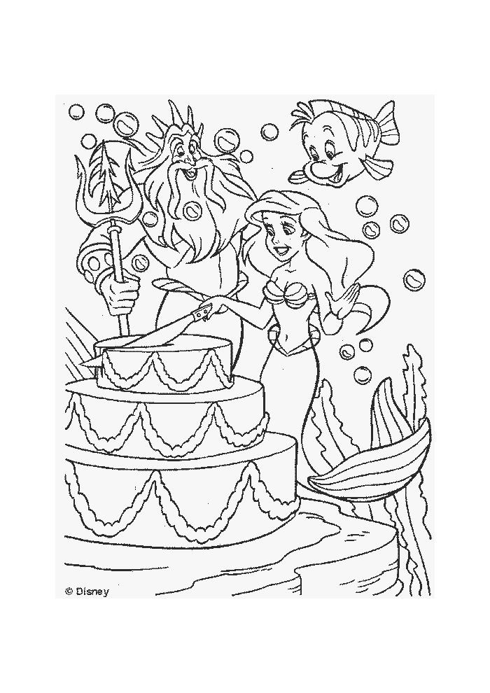 De kleine zeemeermin - taart