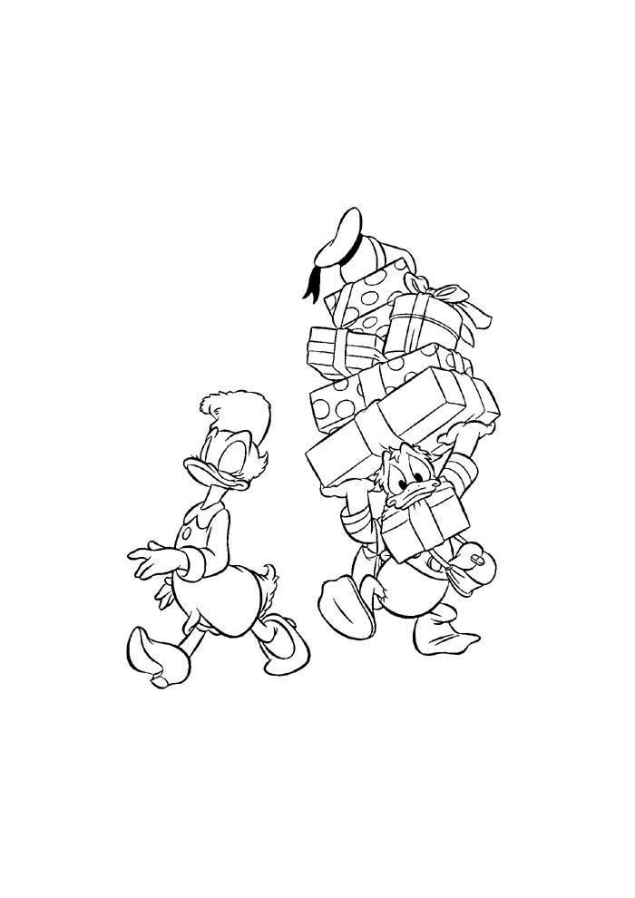 Donald Duck- op reis