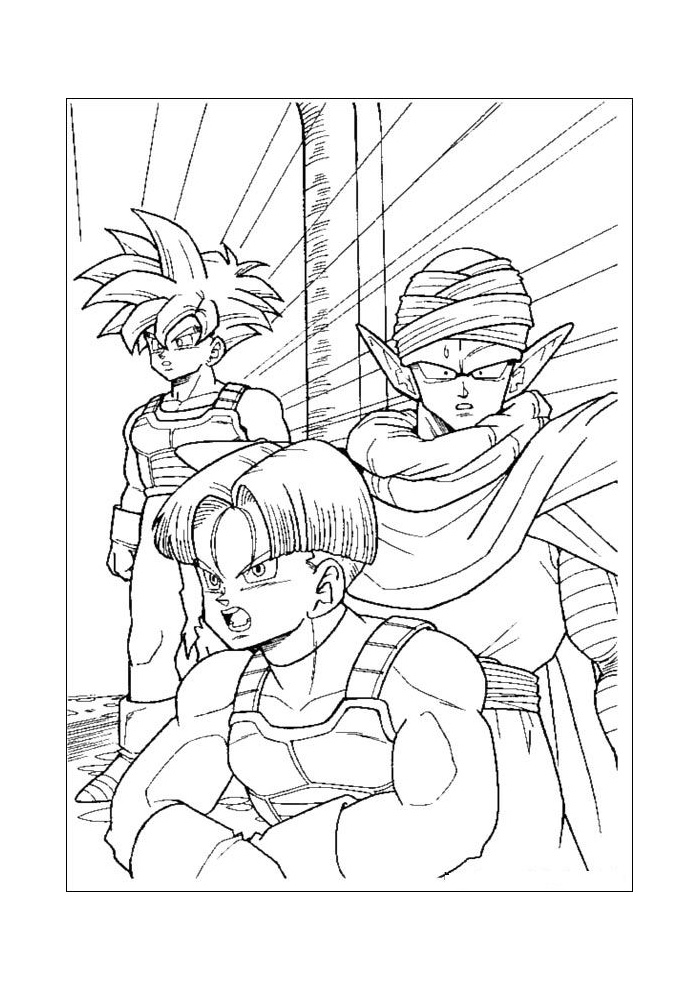 dbz coloring pages frieza - photo#48
