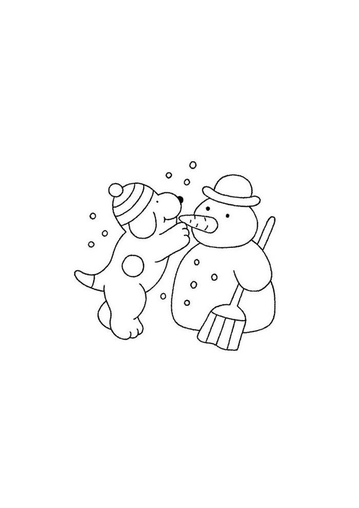 Dribbel - sneeuwpop maken