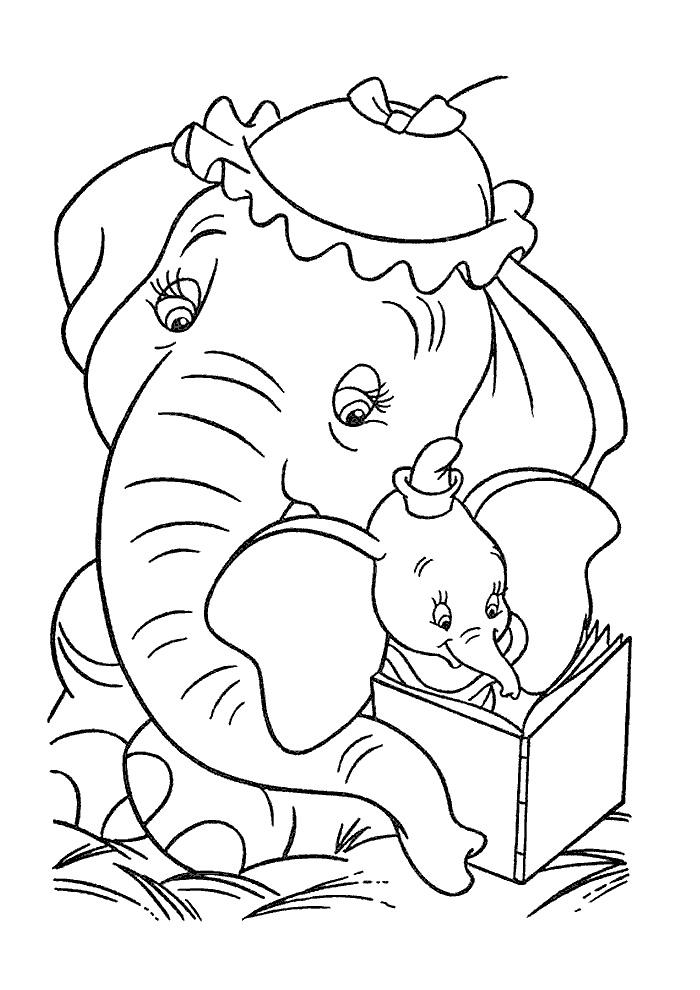 dumbo boekje lezen dumbo kleurplaten kleurplaat