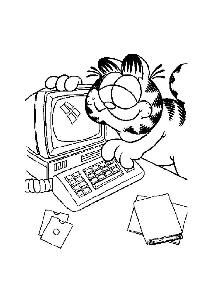 Garfield - achter de computer