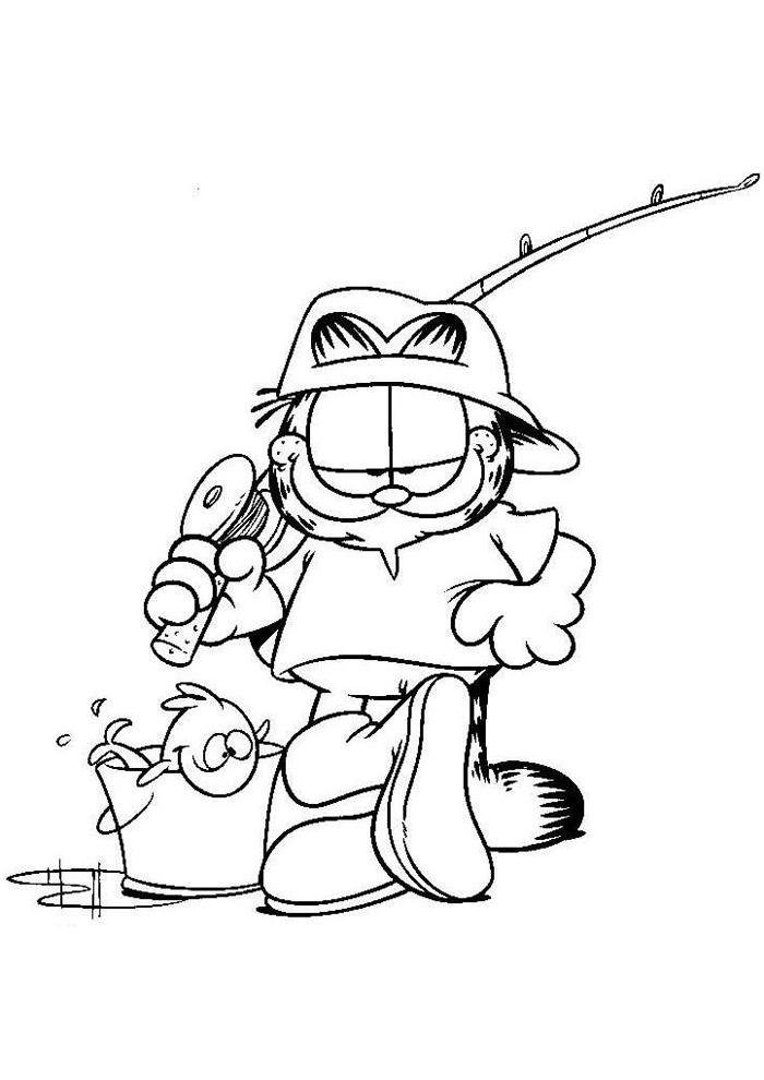 Garfield - garfield gaat vissen