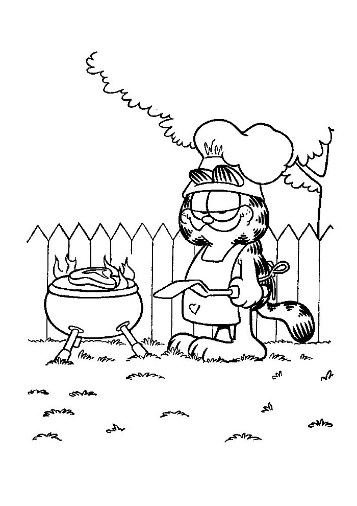 Garfield - bbq