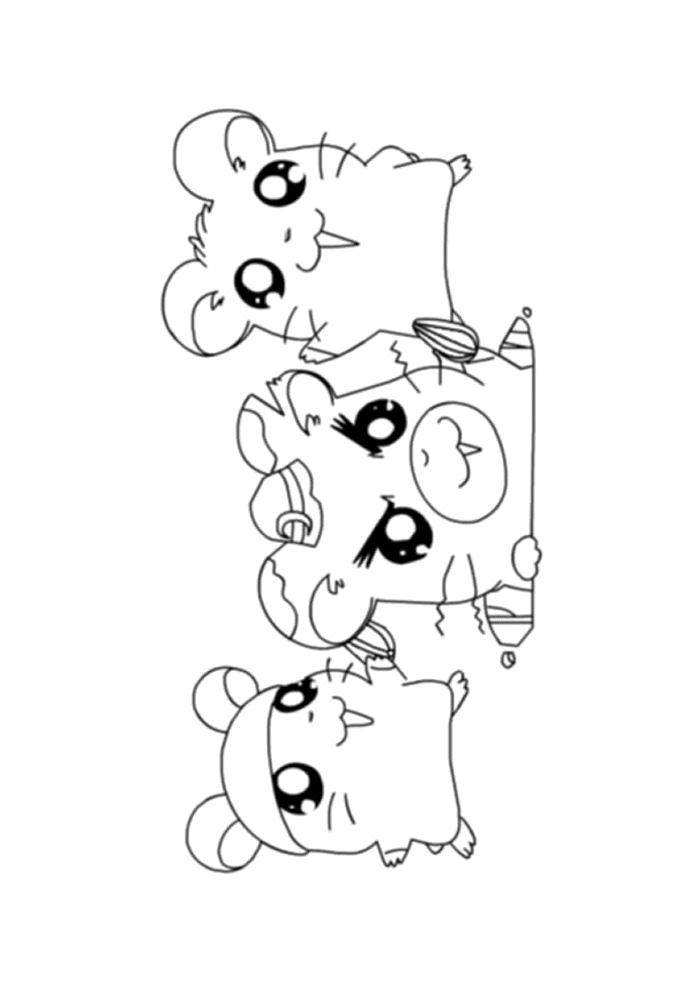 Hamtaro - hamtaro met zijn vriendjes