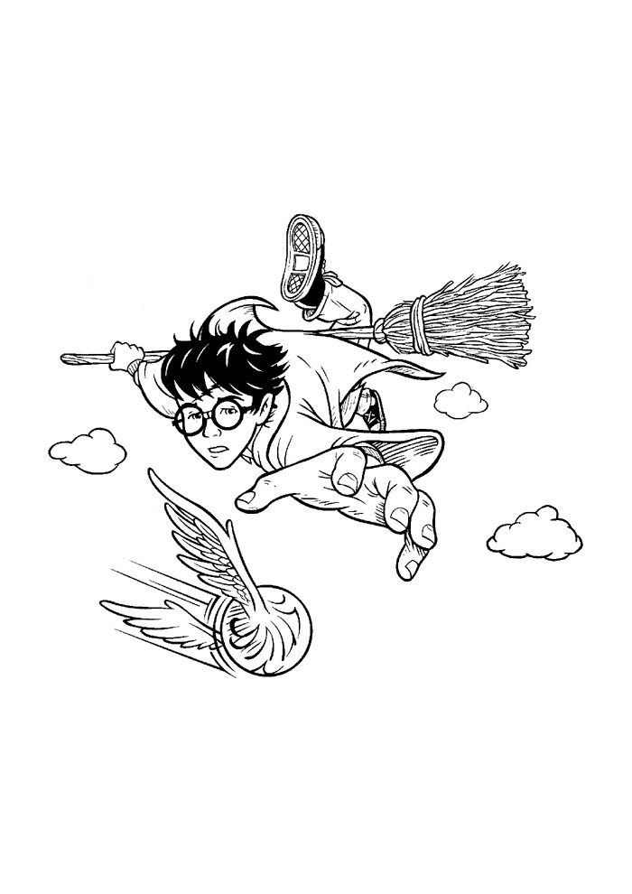 Harry Potter - in de lucht vliegen