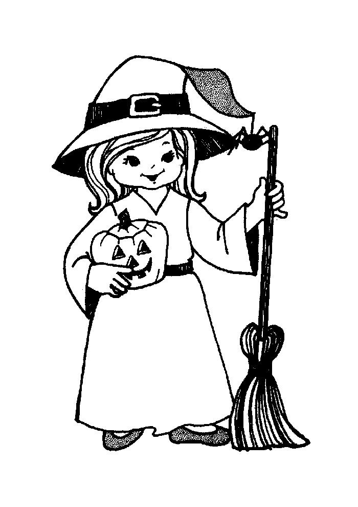Heksen - heks met pompoen
