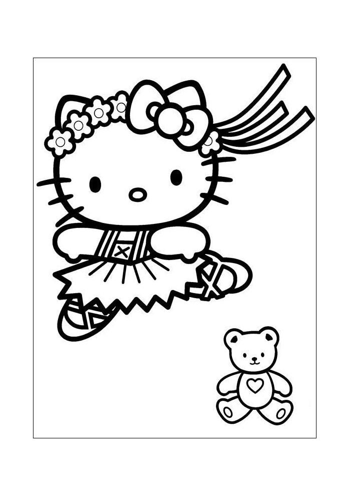 Kleurplaten Hello Kitty.Hello Kitty Dansen Hello Kitty Kleurplaten Kleurplaat Com