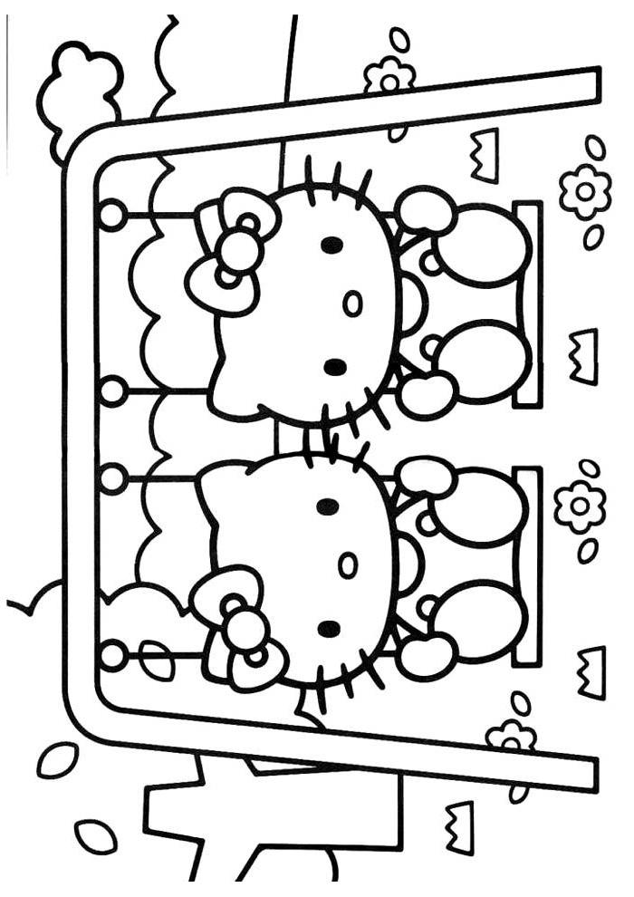 Kleurplaten Hello Kitty.Hello Kitty Op De Schommel Hello Kitty Kleurplaten Kleurplaat Com