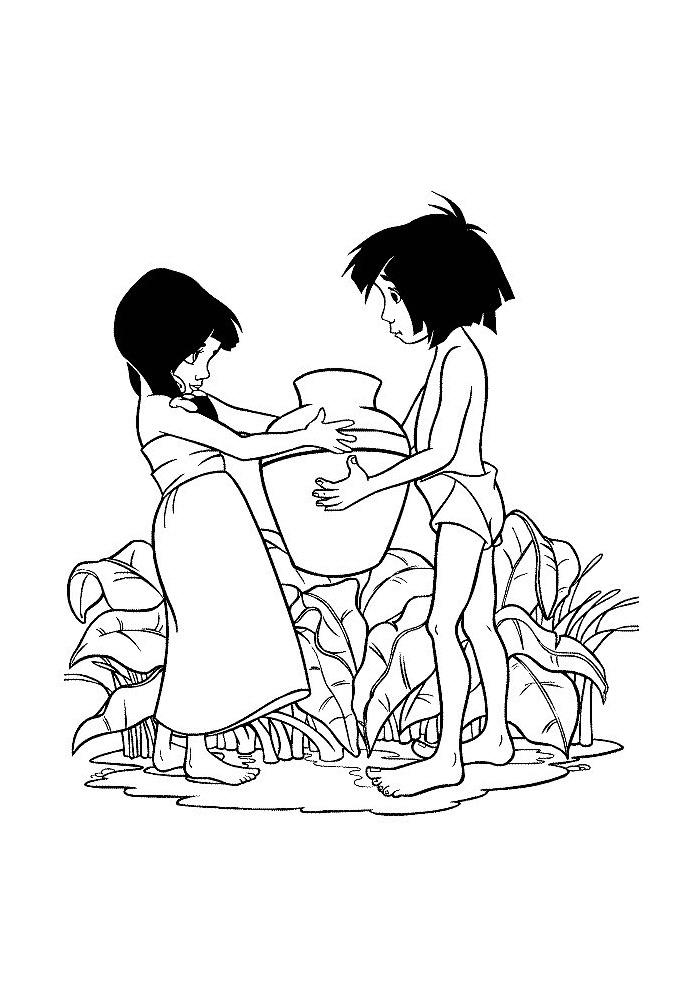 Jungle Book -mowgli met een vriendinnetje